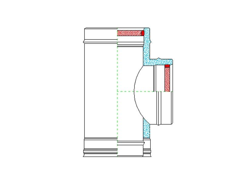 Raccordo a t 90 zinco group s p a for Raccordo in acciaio verticale
